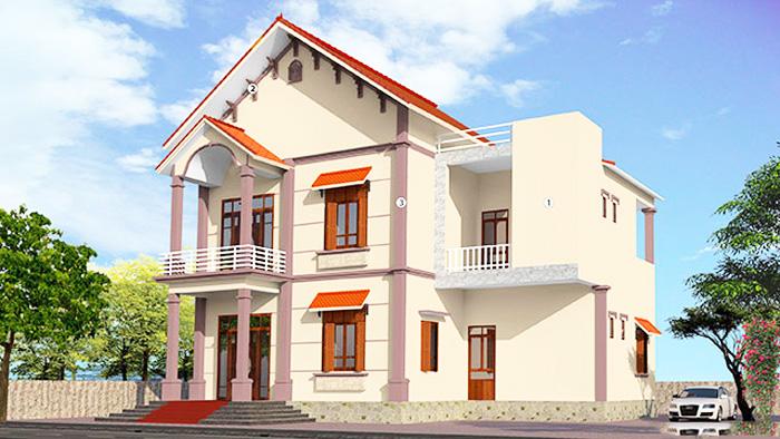 Những mẫu nhà có màu sơn đẹp và kinh nghiệm hoàn thiện xây thô